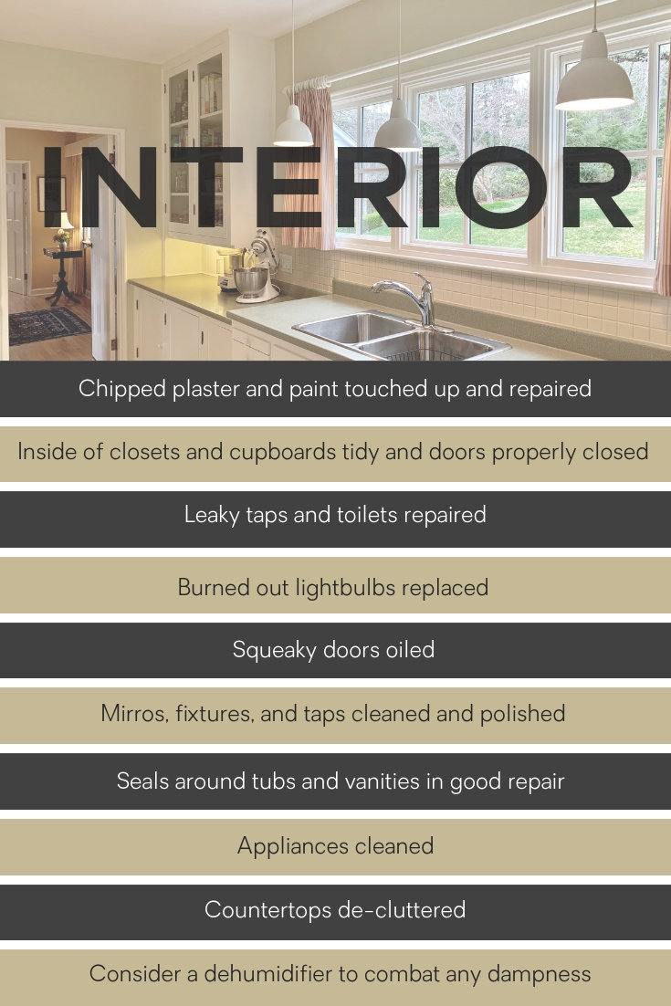 Preparing the interior of your home for sale